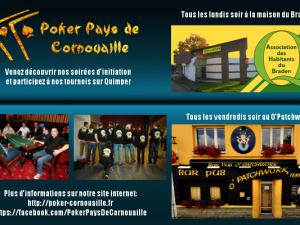 tournoi de poker evenement à Quimper flyer bleu