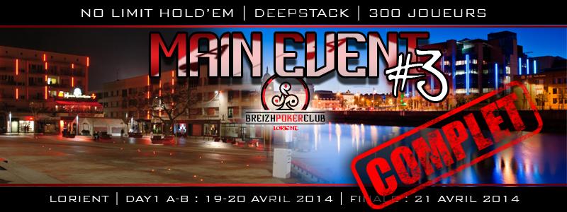 Main-event de Lorient - Breizh Poker Club