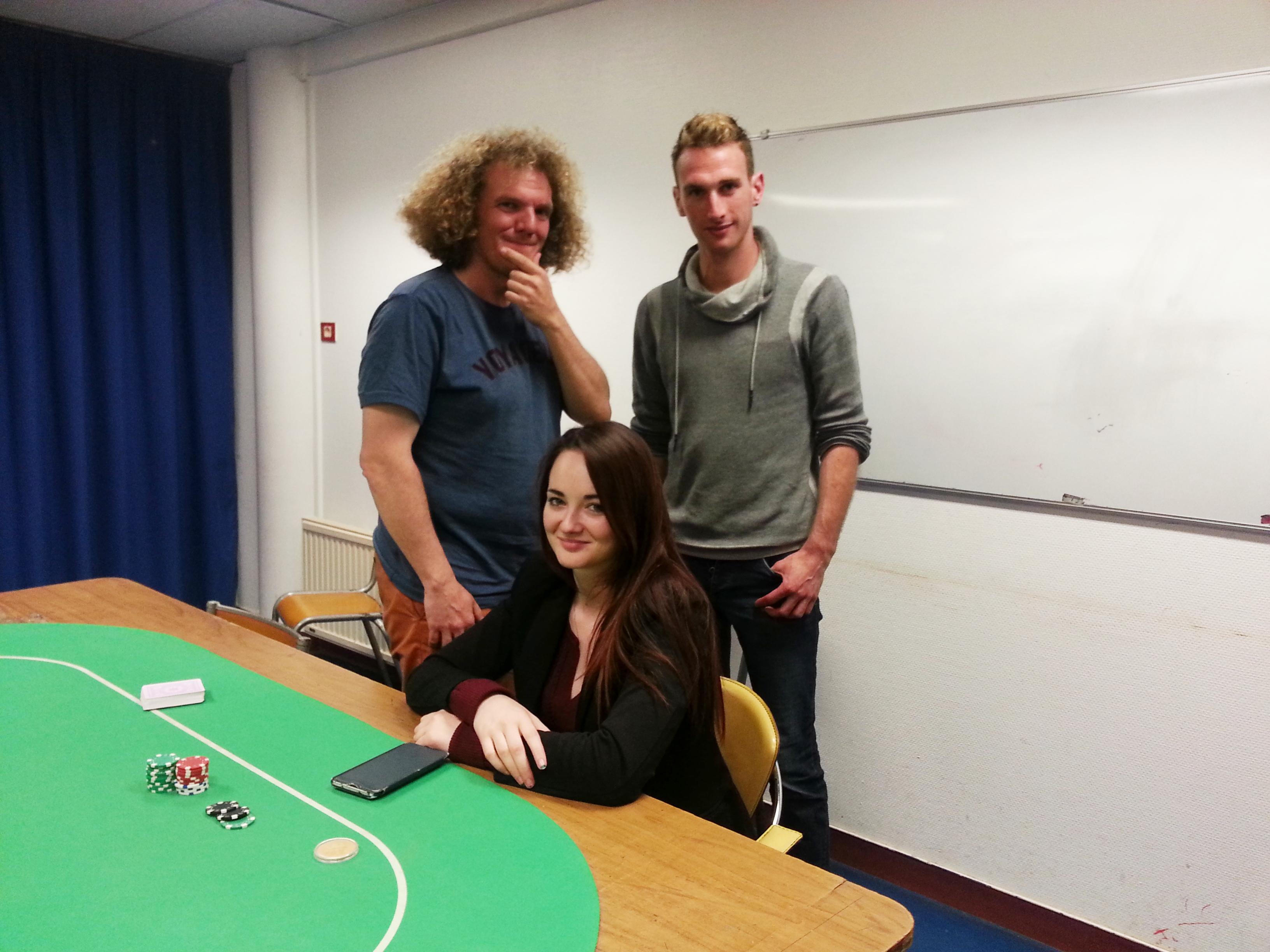 Tournoi de poker à Quimper - Morwenna le lann et Jean Christophe faller en head's up